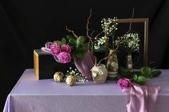 Todavía vida con las rosas Fotos de archivo libres de regalías