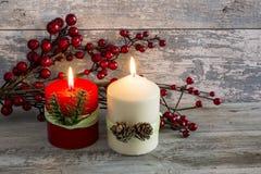 Todavía vida con las velas Imagen de archivo libre de regalías