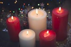 Todavía vida con las velas ardientes Imágenes de archivo libres de regalías