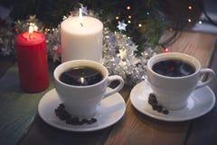 Todavía vida con las velas y el café Imagen de archivo libre de regalías