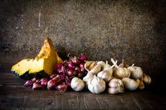 Todavía vida con las verduras Foto de archivo libre de regalías