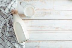 Todavía vida con leche Imagen de archivo