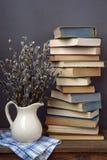 Todavía vida con los libros Foto de archivo libre de regalías