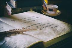 Todavía vida con los libros antiguos Imagen de archivo