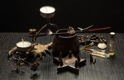 Todavía vida con los objetos mágicos, Foto de archivo