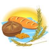 Todavía vida con los productos del pan Imagen de archivo