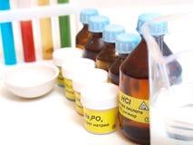 Todavía vida con los productos químicos Fotografía de archivo