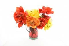 Todavía vida con los tulipanes de la peonía Fotos de archivo libres de regalías