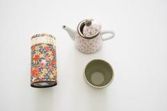 Todavía vida con los utensilios del té verde Fotos de archivo libres de regalías