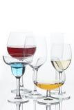 Todavía vida con los vidrios con las bebidas Foto de archivo libre de regalías