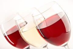 Todavía vida con los vidrios de vinos Fotografía de archivo