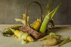 Todavía vida con maíz Fotos de archivo libres de regalías