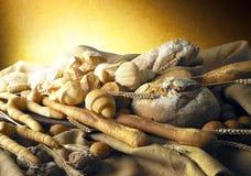 Todavía vida con pan Foto de archivo