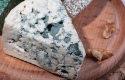 Todavía vida con queso Maasdamer del queso, brie, camembert, vinograd, MED foto de archivo libre de regalías