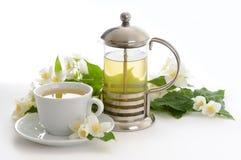 Todavía vida con té del jazmín Foto de archivo libre de regalías
