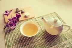 Todavía vida con té verde Fotos de archivo