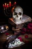 Todavía vida con un cráneo Imagen de archivo