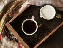 Todavía vida con una taza de café Imagen de archivo libre de regalías