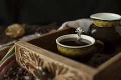 Todavía vida con una taza de café Fotos de archivo libres de regalías
