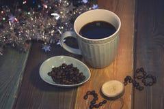 Todavía vida con una taza de café y una inscripción 2018 Imágenes de archivo libres de regalías