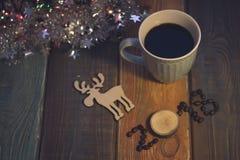 Todavía vida con una taza de café y una inscripción 2018 Fotografía de archivo