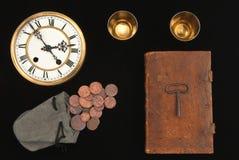 Todavía vida con viejas cosas Imagen de archivo libre de regalías
