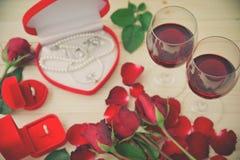 Todavía vida de copas de vino Fotos de archivo
