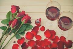 Todavía vida de copas de vino Fotos de archivo libres de regalías