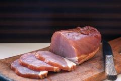 Todavía vida de la carne ahumada Fotos de archivo libres de regalías