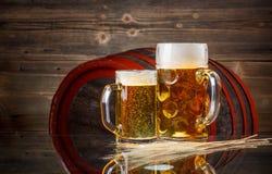 Todavía vida de la cerveza Foto de archivo