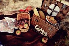 Todavía vida de la comida campestre del otoño Foto de archivo