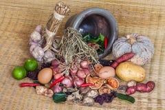 Todavía vida de la comida y de la verdura Fotos de archivo