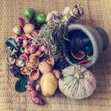 Todavía vida de la comida y de la verdura Imagenes de archivo
