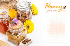 Todavía vida de la miel fresca Imagen de archivo