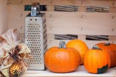 Todavía vida de las calabazas de otoño Fotos de archivo libres de regalías