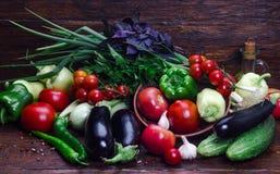 Todavía vida de las verduras del verano Fotos de archivo libres de regalías