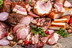Todavía vida de los productos de carne Imagen de archivo libre de regalías