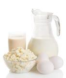 Todavía vida de los productos lácteos Imágenes de archivo libres de regalías