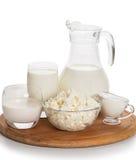 Todavía vida de los productos lácteos Fotografía de archivo libre de regalías