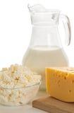 Todavía vida de los productos lácteos Imagen de archivo libre de regalías