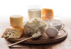 Todavía vida de los productos lácteos Fotos de archivo libres de regalías