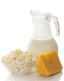 Todavía vida de los productos lácteos Fotografía de archivo