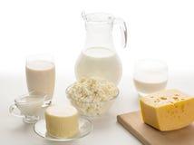Todavía vida de los productos lácteos Fotos de archivo