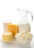 Todavía vida de los productos lácteos Foto de archivo