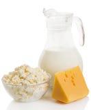 Todavía vida de los productos lácteos Imagen de archivo