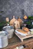 Todavía vida de objetos de la cocina Foto de archivo libre de regalías