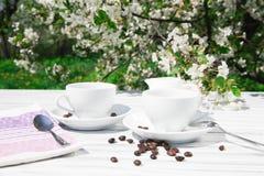 Todavía vida de una taza de café Imágenes de archivo libres de regalías