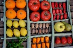 Todavía vida de verduras en una tabla Fotos de archivo libres de regalías