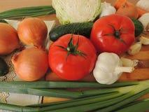 Todavía vida de verduras frescas Fotos de archivo
