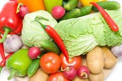 Todavía vida de verduras frescas. foto horizontal. Imagen de archivo libre de regalías